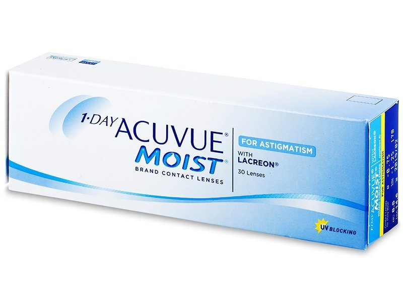 1 Day Acuvue Moist for Astigmatism (30 lentillas) - Lentillas tóricas