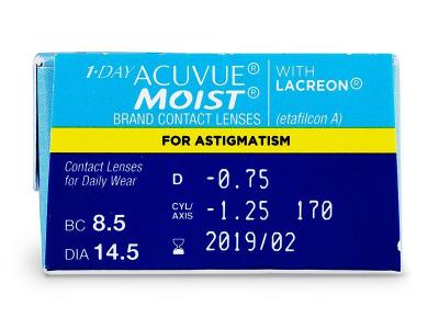 1 Day Acuvue Moist for Astigmatism (30lentillas) - Previsualización de atributos